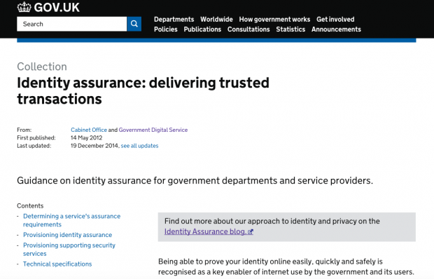 security - GOV UK Verify