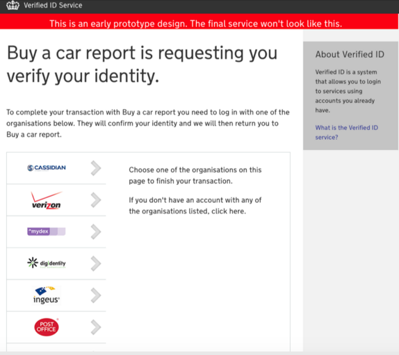 Screenshot of Verify in 2012