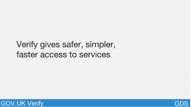 Verify gives safer, simpler access to services