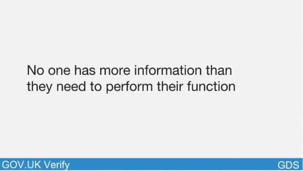 No one has more information than they need to perform their function