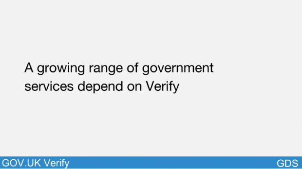 A growing range of government services depend on Verify