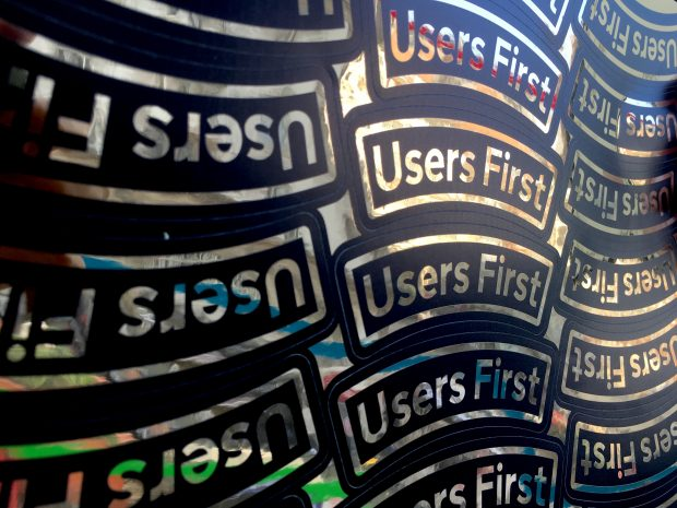 'Users First' photograph