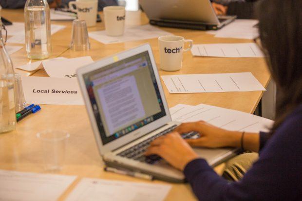 Laptop at #VerifyLocal event
