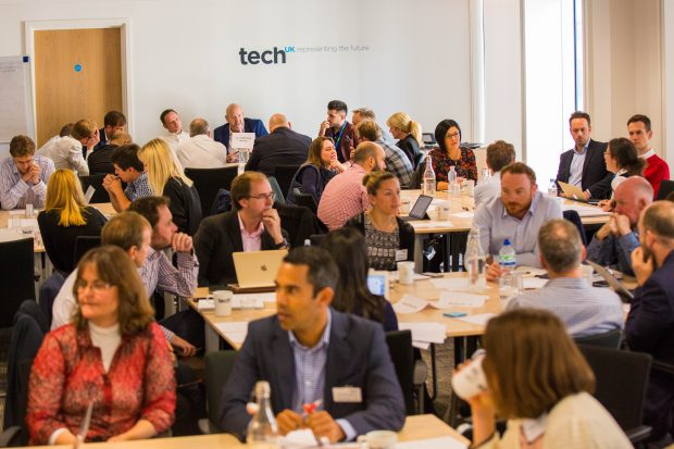 Delegates in discussion at techUK event