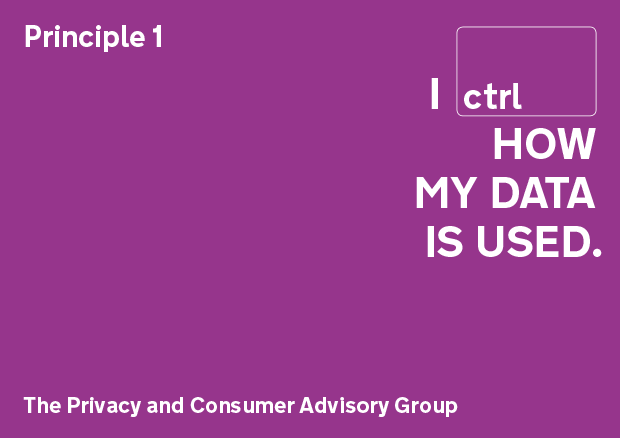Privacy principle 1: I control how my data is used
