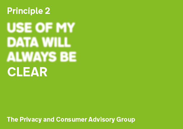 Privacy Principle 2: Use of my data will always be clear