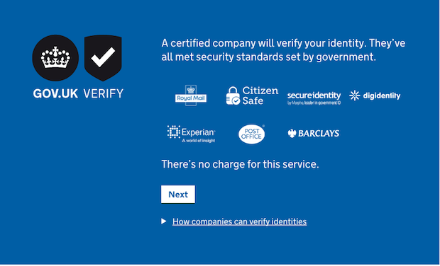 Certified companies in the GOV.UK Verify journey