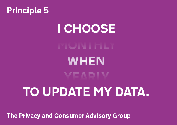Principle 5: I choose when to update my data