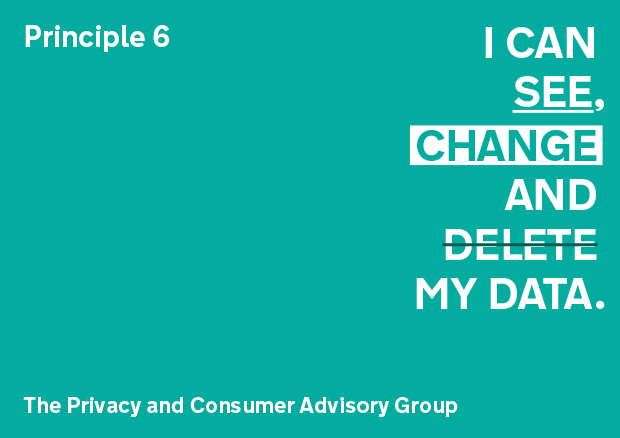 Principle 6: I can see, change and delete my data
